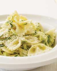 Farfalle with Yogurt and Zucchini Recipe from Food & Wine   An opportunity to use the last of the glut of summer squash: Cook, Zucchini Pasta, Zucchini Food, Pasta Recipes, Pasta Sauce, Healthy Recipes, Healthy Food, Recipe Food Drink, Yogurt Zucchini