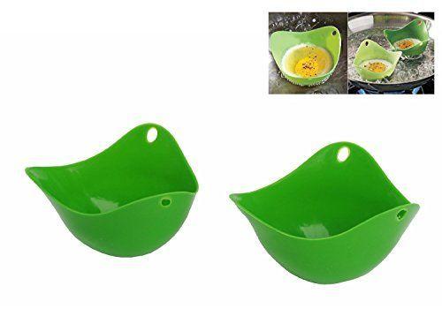 OPPOHERE Silicone Egg Poacher Egg Boiler CookwareRandom color 2PCS >>> Additional info @