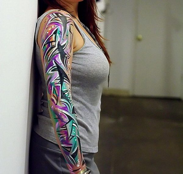 40 Cool And Pretty Sleeve Tattoo Designs For Women: 25+ Best Ideas About Feminine Sleeve Tattoos On Pinterest