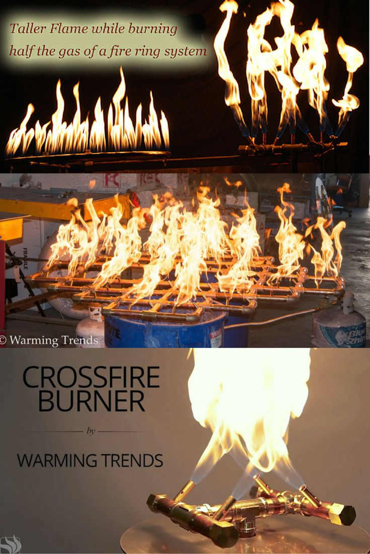 DIY Build Your Own Fire Pit. Our Crossfire™ Brass Burner ...