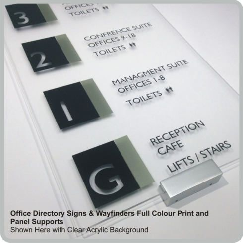 Acrylic Office Directory Signs Lobby Signs Custom Made