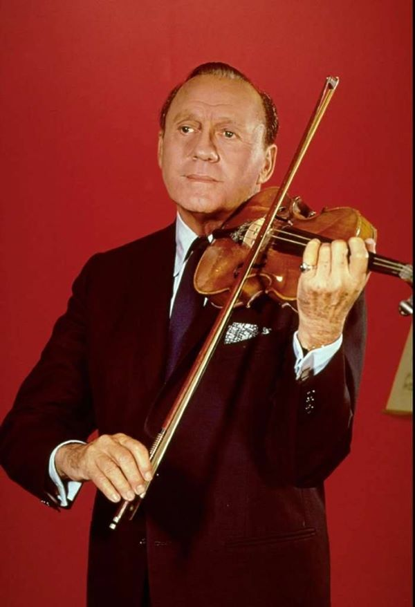 """After a run of 23 years on the radio, Jack Benny signed off from his live radio show on this date in 1955 to concentrate on TV full-time. The comedian and his beloved regulars including his wife Mary Livingston, Eddie """"Rochester"""" Anderson, Dennis Day and Don Wilson brought """"The Jack Benny Show"""" to television in 1950. The series ran until 1964 on CBS and then moved to one last season on NBC."""