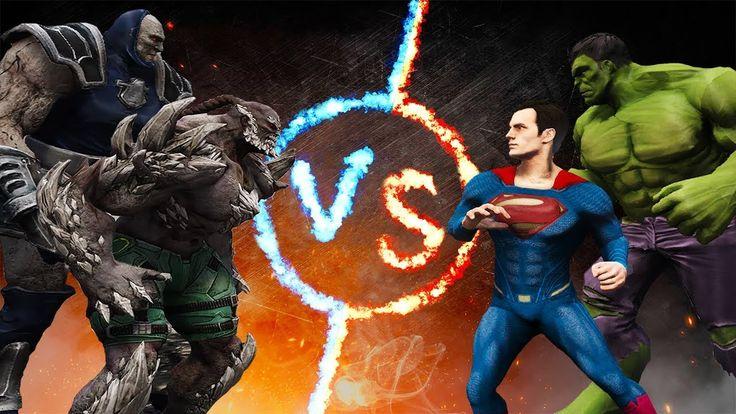 Hulk & Superman vs Darkseid & Doomsday https://www.youtube.com/watch?v=YBugRw3O9TU