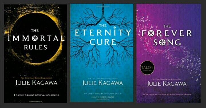 The Blood of Eden Series: The Immortal Rules, The Eternity Cure, & The Forever Song.  By: Julie Kagawa