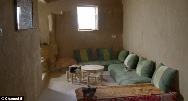 They have all the modern trappings including running water, a shower, living room, kitchen...