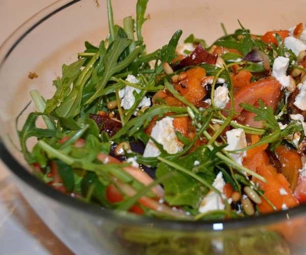 Roast Sweet Potato and Feta Salad
