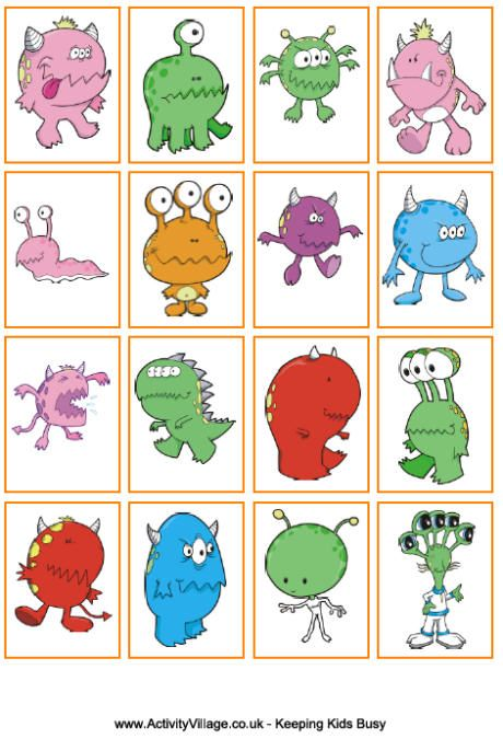 Monster sorting game. toddler prek busy bag. sort by color or number of eyes. :)