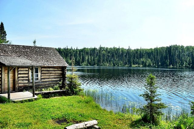 Prince Albert National Park of Canada - Grey Owl's Cabin - Photographed by Matt Long -Grey Owl's Cabin, Saskatchewan- Grey Owl wrote three best-selling books while he lived in Prince Albert National Park: Pilgrims of the Wild(1934), Sajo and Her Beaver People(1935) and Tales of an Empty Cabin(1936).