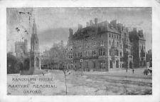 Randolph Hotel and Martyrs Memorial, Oxford 1904