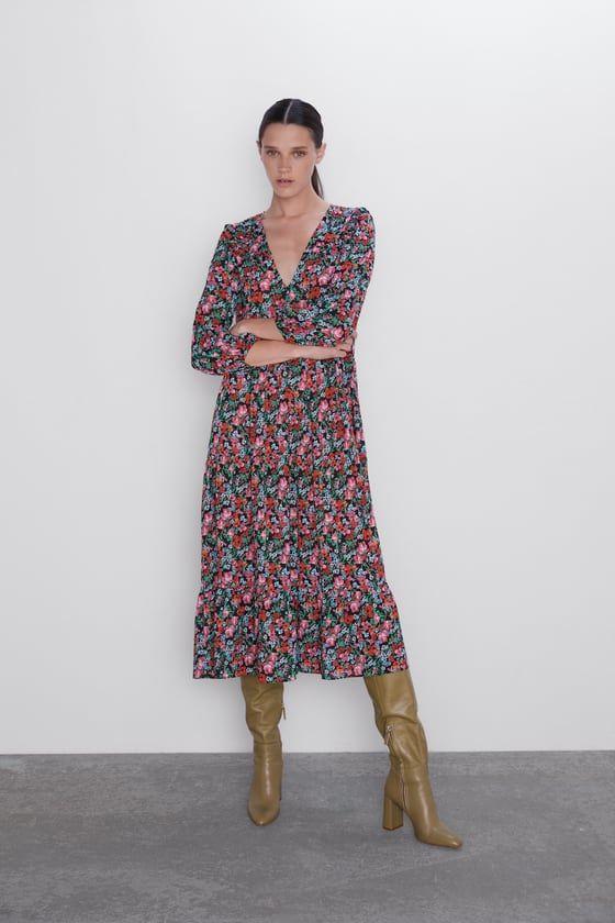 ZARA - WOMAN - FLORAL PRINT DRESS | Kleid blumenmuster ...