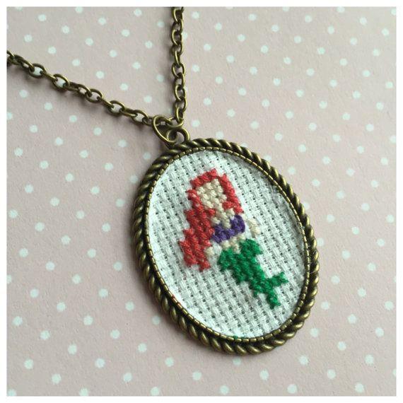 Disney cross stitch necklaces princess by BuckleberryFerry  #disney #disneysecrets