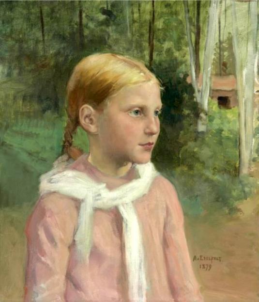 """""""Fio in the Woods"""" - """"""""Fio mestsässä"""" Albert Edelfelt (1854 – 1905, Finnish)"""