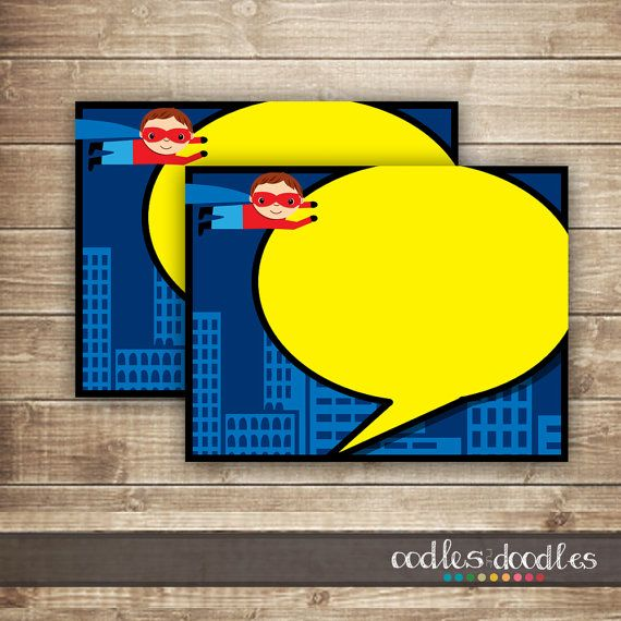 Superhero Thank You Note Card / Superhero Stationary  by OandD