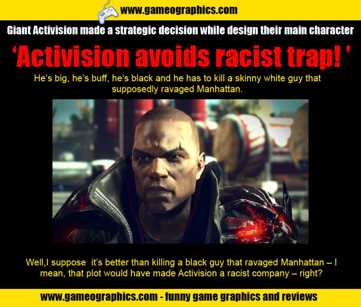 Activision avoiding racist traps like a ninja. These guys sure know how to play their game.