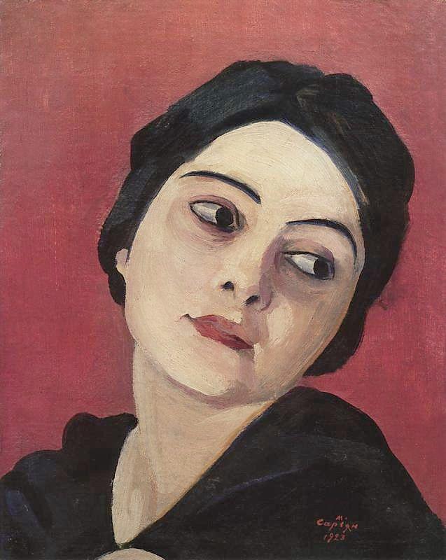 Head of the girl by Martiros Saryan (1923).