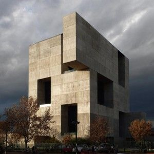 """Giant+openings+puncture+Elemental's++""""monolithic""""+concrete+innovation+centre"""