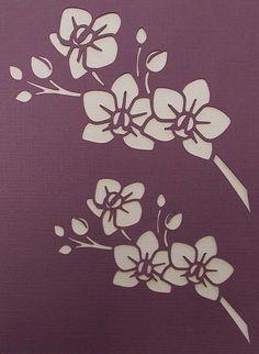 Orchid Sprays Stencil by kraftkutz on Etsy