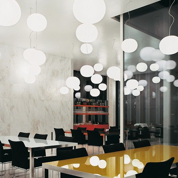 GLO-BALL S by Jasper Morrison for #FLOS almost looks like snow in this restaurant