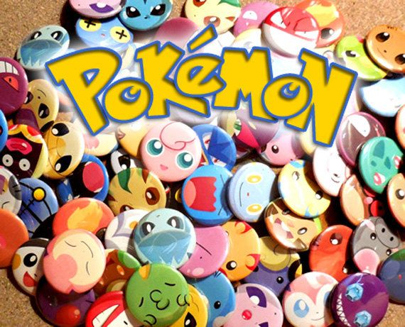 Pokemon Mix & Match Button Set by GoldenPressure on Etsy https://www.etsy.com/listing/219789112/pokemon-mix-match-button-set