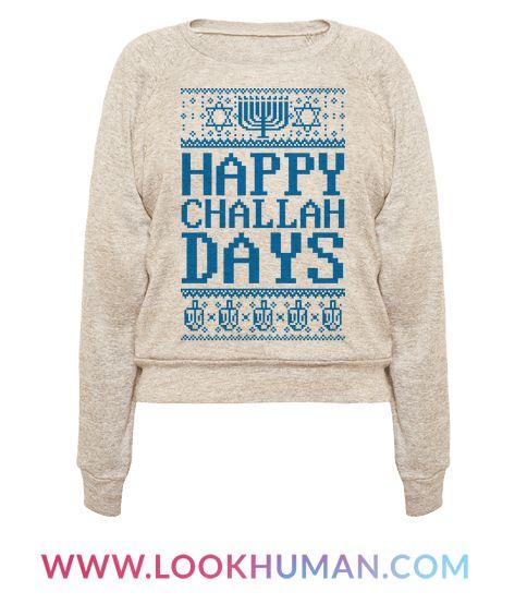 This funny hanukkah shirt is for all holiday loving jews who love jewish puns and hanukkah puns like happy challah days! This jewish shirt is perfect for fans of winter, jewish jokes, hanukkah ugly sweaters, and jewish ugly sweaters.