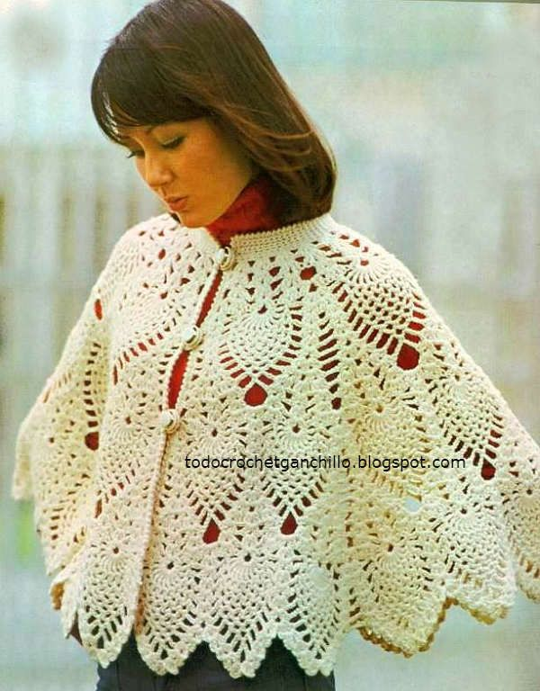 Mejores 14 imágenes de mañanitas de crochet en Pinterest | Poncho de ...