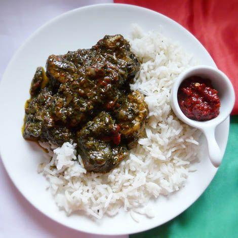 Le Saka-Saka (feuille de manioc à l'arachide, plat Congolais)