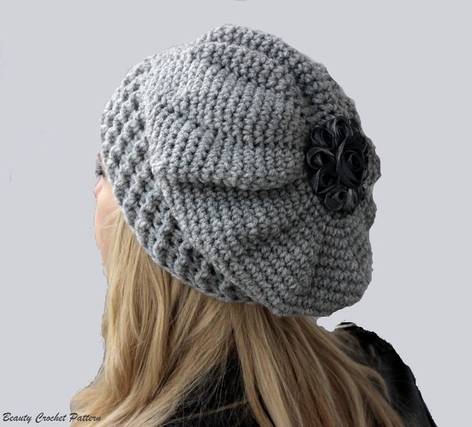 Crochet Tutorials – Crochet Slouch French Beret Pattern – a unique product by Daisyre on DaWanda