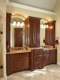master bathroom cabinet idea
