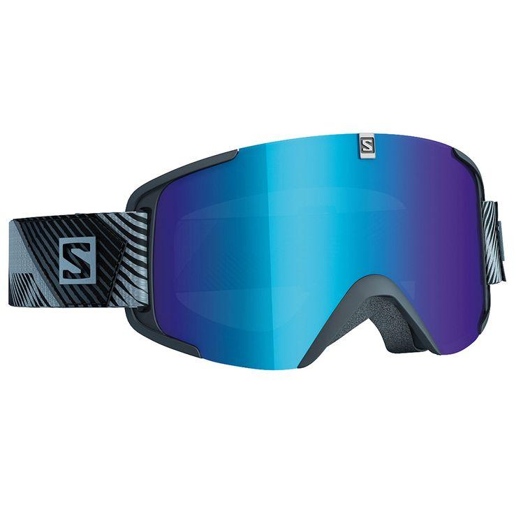 Salomon X View Black Blue Multilayer + Tonic Orange 2017 : achat masque de ski chez Glisshop.com