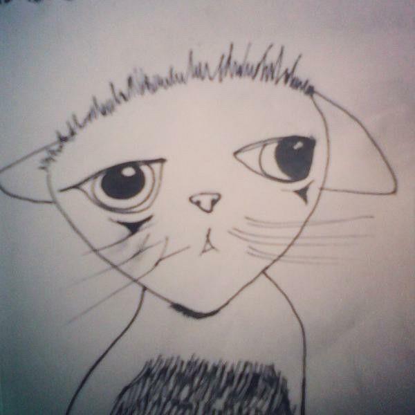 Estados de animo. #cat#pencil#drawing#badday#black&white