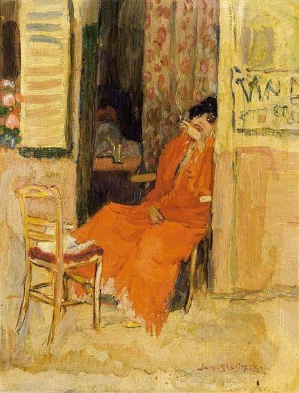 Jan Sluijters - Zittende vrouw met sigaret, Parijs (1906)