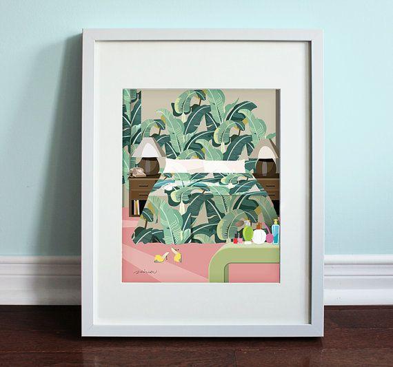 The Golden Girls Bedroom - The Golden Girls, Golden Girls Art Print, TV Sitcom