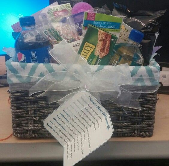 We Made This New Job Survival Kit For A Co Worker Leavingwe Filled It With All Her Favs