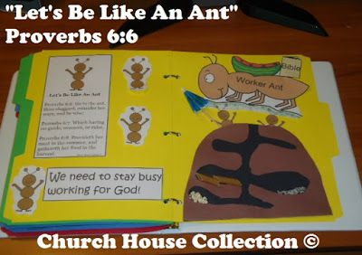 """""""Let's Be Like An Ant"""" Folder Lapbook Craft"""