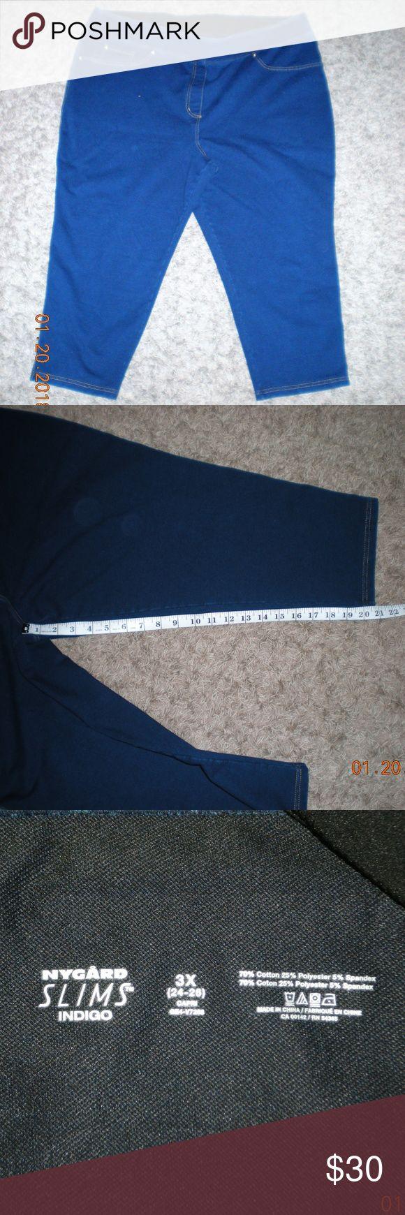 NYGARD Slims Jean/Leggings Capris 3x (24-26) NYGARD Slims Jean/Leggings Capris 3x (24-26) Never worn, great stretch. Peter Nygard Jeans