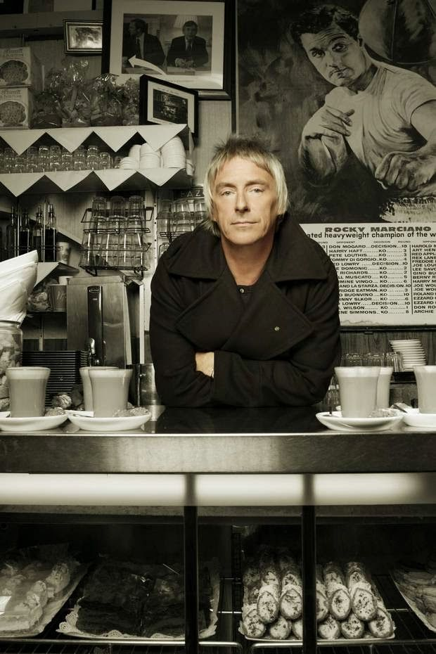 """""""Yes mate – what can I get you?"""" - Paul Weller at Bar Italia"""