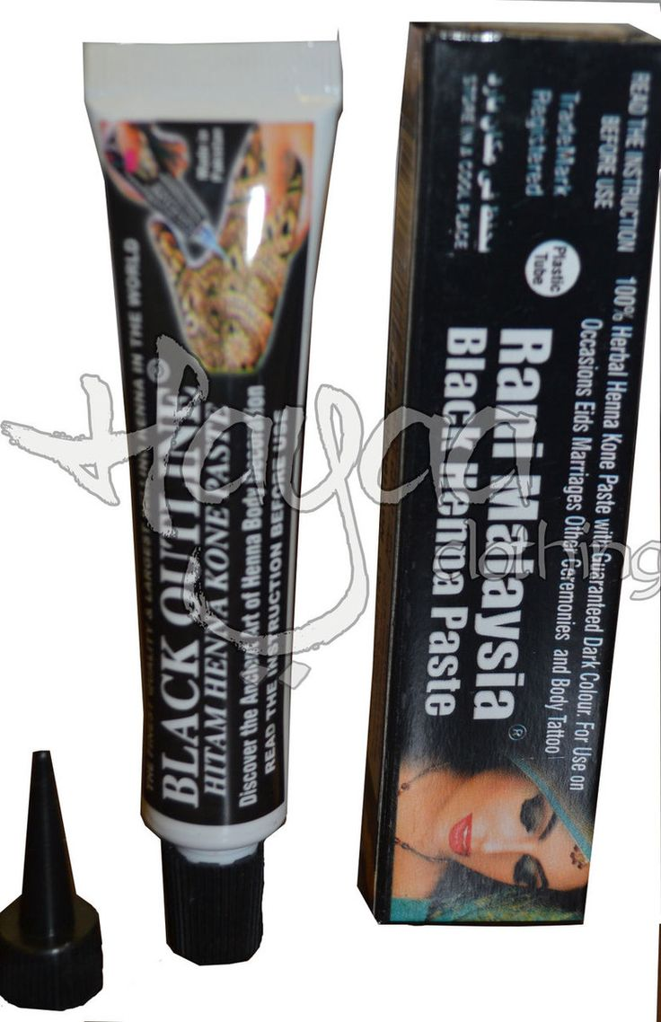 Hayaa Clothing - RANI BLACK Natural Henna Tube Mehandi 35gm, $3.50…