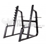 Commercial Diamond Series - Aquat Rack  Dimensions (L×W×H):     185cm × 173cm × 180cm   For more info visit: http://www.gymandfitness.com.au/diamond-series-squat-rack.html