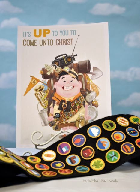 Disney UP Themed New Beginnings Program - Make Life Lovely - Girls earn 'Badges' rotating through classes
