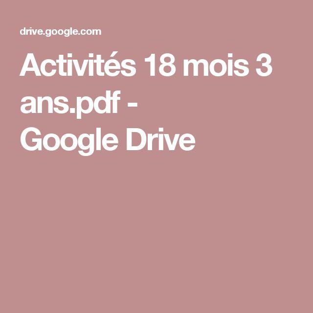 Activités 18 mois 3 ans.pdf - GoogleDrive