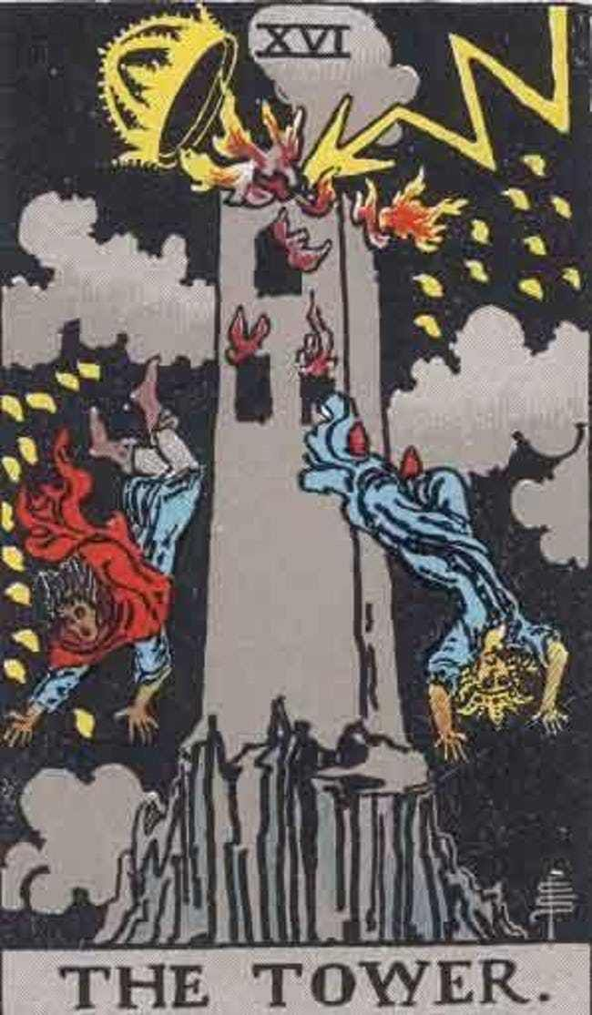When Your Tarot Reader Draws These Cards, They Know It's Bad News | The  tower tarot, The tower tarot card, Rider waite tarot
