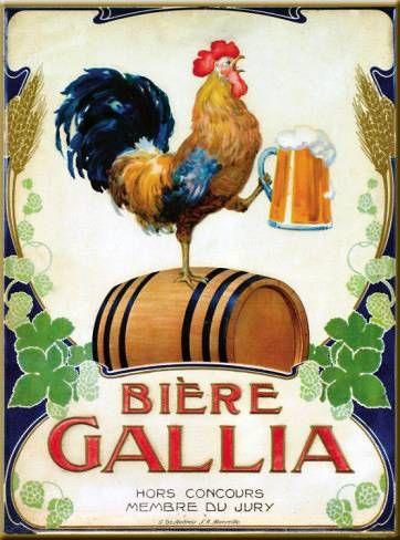 Bière Gallia | Vintage food & drink poster | Retro advert #Vintage #Retro #Posters #Affiches #Food #Drinks #Carteles #deFharo #Ads