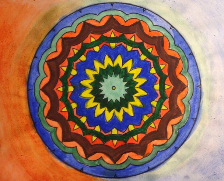 Mandala- water colors