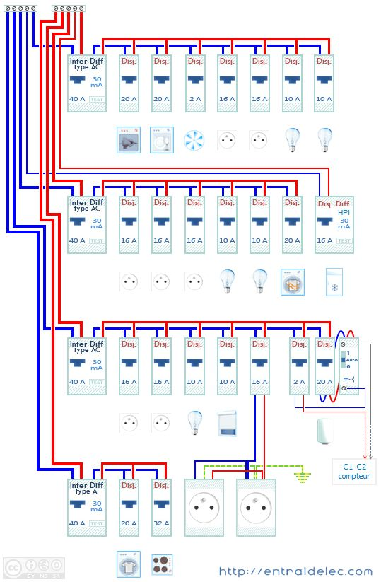 10 best électricité images on Pinterest DIY, Electrical wiring and - schema tableau electrique maison individuelle