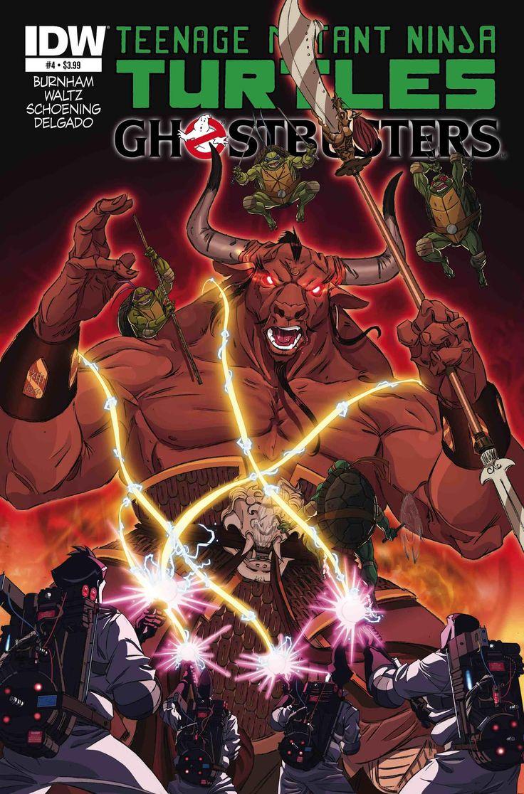 Teenage Mutant Ninja Turtles/Ghostbusters #4, By Erik Burnham, Tom Waltz, Dan Schoening & Luis Antonio Delgado  This review comes on the heels of big Ghostbusters news…the cast of the rebo...,  #danschoening #erikburnham #erikgonzalez #ghostbusters #IDW #luisantoniodelgado #review #TeenageMutantNinjaTurtles #TeenageMutantNinjaTurtles/Ghostbusters #TMNT #TomWaltz