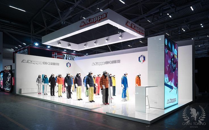Kappa Ski exhibition stand. ISPO Munich, Germany. Gran Torino Design 2015