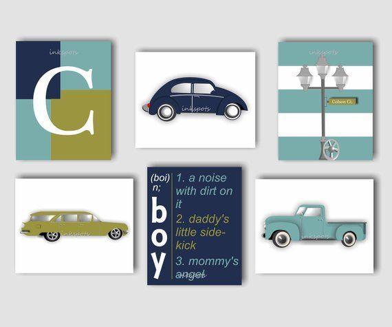 Personalized Car Decor Boys Room