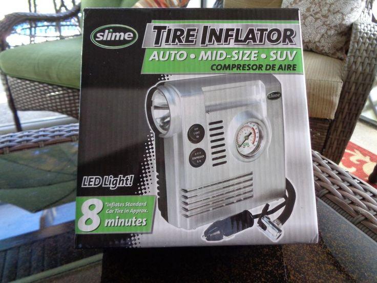 SLIME 40032 - COMP03 Tire Inflator-12V Car Portable Air Compressor w/ LED light #Slime