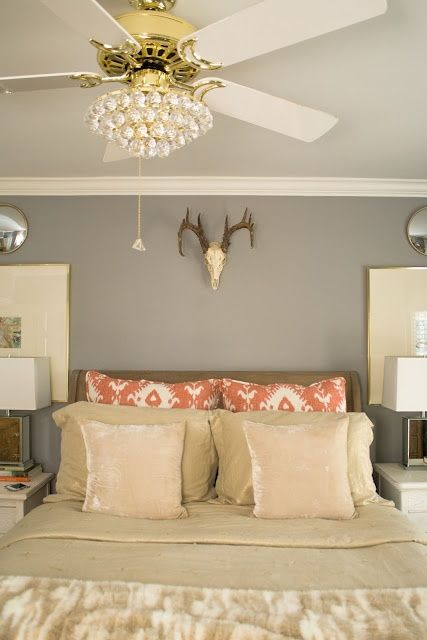 27 Interior Designs with Bedroom ceiling fans Interiorforlife.com Crystal ceiling fan