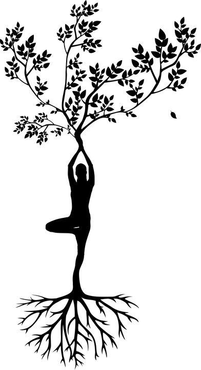 Kostenloses Bild auf Pixabay – Silhouette, Frauen, Baum, Yoga – plotter